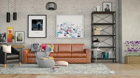 Tijolos brancos - Living room - by Alecio