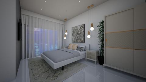 White Elegant Bedroom - Bedroom - by Ginntare