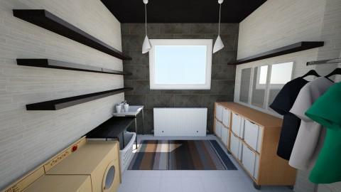 Laundry - Minimal - Bathroom - by Diego Elias Trevino