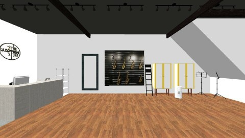 the saxophone store - Office - by nianyi