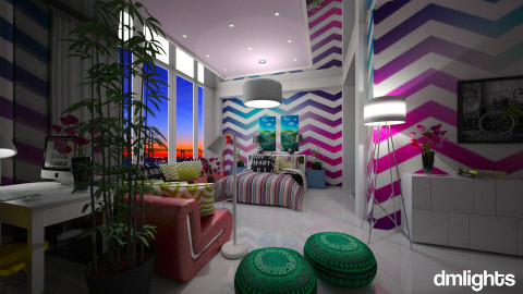 vibrant suite - Modern - Bedroom - by sometimes i am here