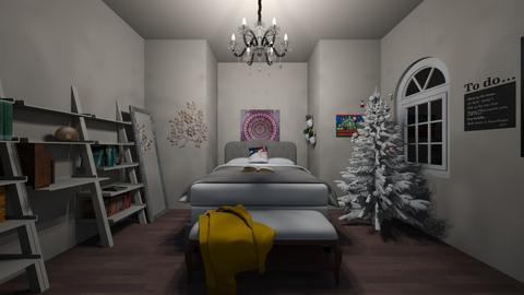 Teenage girl room - Glamour - Bedroom - by gbonin