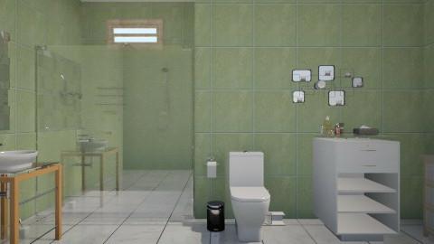 baño tropical - Minimal - Bathroom - by Jen Guerra