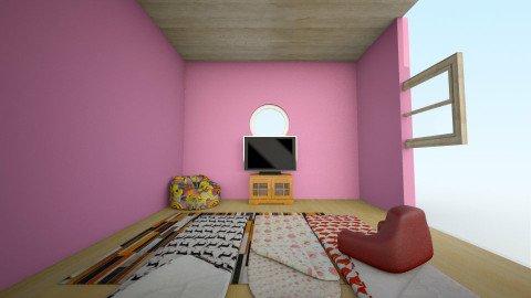 Girls Only Slumber Party - Feminine - Living room - by ldertien2019
