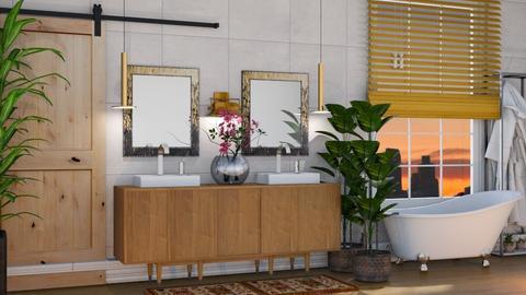 Ecletic Bathroom - by Aymee Estrella