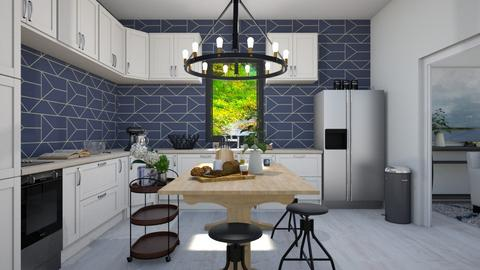 Blue Series Kitchen - Kitchen - by Yate