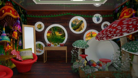 magic mushroom - Eclectic - Living room - by donella