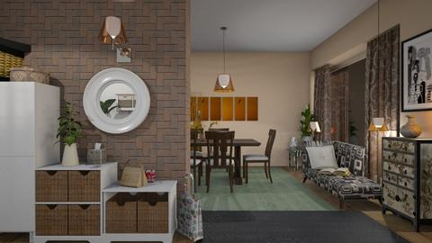 M_ Sunset bird - Eclectic - Living room - by milyca8
