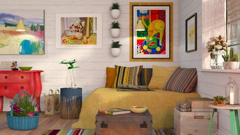 Matisse Inspired - Vintage - Living room - by Sally Simpson
