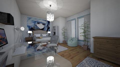 teenage bedrrom - Modern - Bedroom - by MSK