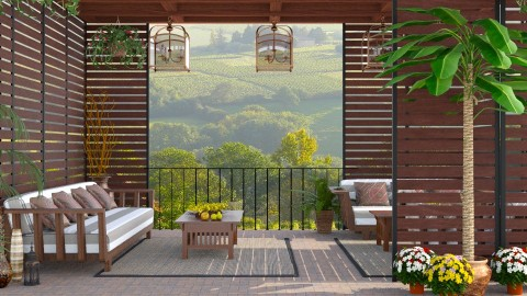 Design 225 Wood and Stone Patio - Garden - by Daisy320