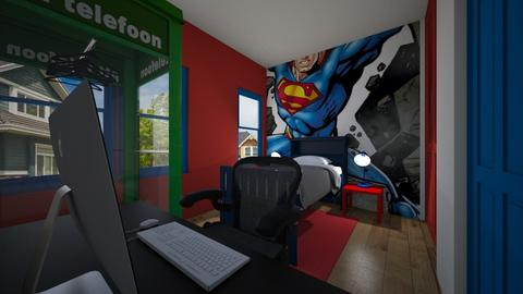 Superman Inspired Room - Bedroom - by SammyJPili