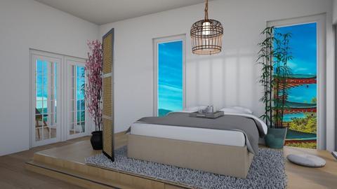 Japanese Art Home - Bedroom - by Yate