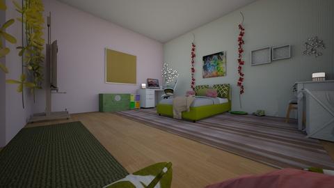 monochromatic  - Bedroom - by shouldersj1122