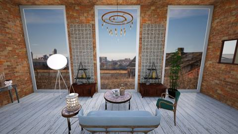 Glass and Bricks - Retro - Living room - by CleoBrown