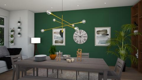 Green Dining - Dining room - by racheycakes38