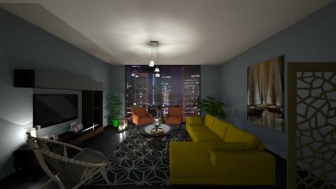 BlueCitiyLights - Modern - Living room - by tena9