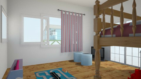 Compound Kids room - Retro - Kids room - by Haille Boyd