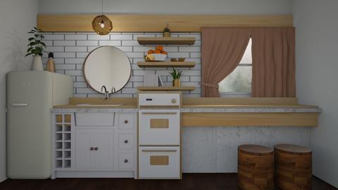 wood studio kitchen - Kitchen - by Kelli Mallory