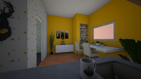 small kit and dine - Modern - Kitchen - by PipPipJangles
