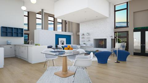 kiss blue contemp - Living room - by pachecosilv