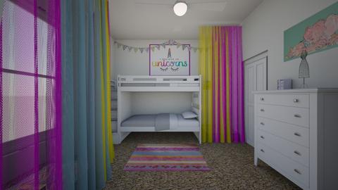 Girls Room View 2 - Kids room - by Tzed Design