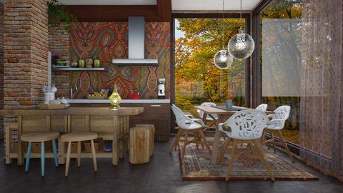bohemian  - Eclectic - Kitchen - by Ida Dzanovic