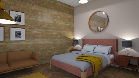 Mid century modern bedroo - Bedroom - by Zhannat