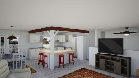 Open No Str Porch r1 - Living room - by Richard Fisher