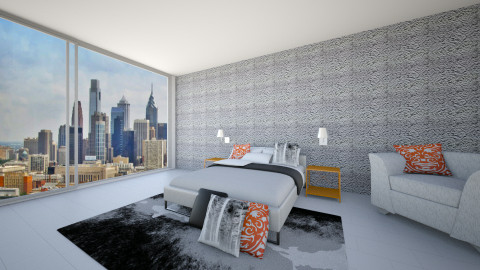 Modern Ocean View - Bedroom - by Zoe_Roomstyler