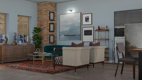 Art collector home - Living room - by pandajoy
