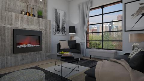 Rough style - Living room - by Tuija