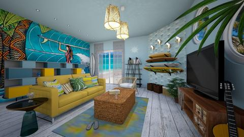 surf culture living room - by Ninasche