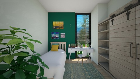 Green - Bedroom - by CatLover0110
