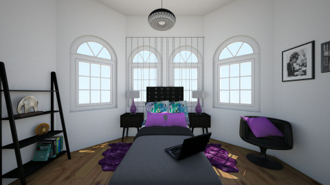 purple - Classic - Bedroom - by Katherine Gilbert