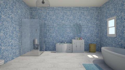 my blue house - Feminine - Bathroom - by nisrin hsan