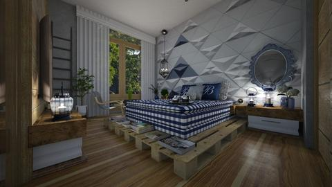 Bed of Pallet - Bedroom - by Maria Helena_215