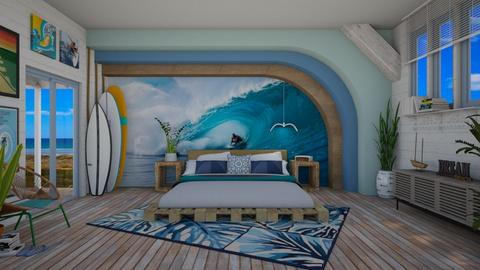 Surfing in my sleep - Bedroom - by Nicky West