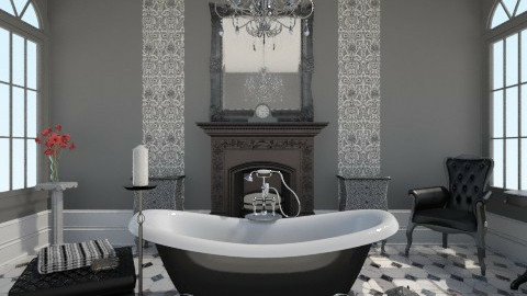 Black Gothic Bathroom - Vintage - Bathroom - by idna