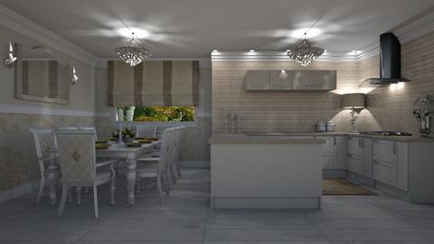 Warm Kitchen - Kitchen - by creato