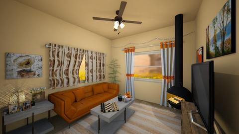 Orangish 2 - Living room - by SpicyMcPie