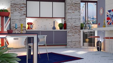 Colorful kitchen - Modern - by sukica