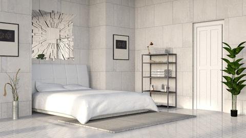 Gray Stone Bedroom - Minimal - Bedroom - by millerfam