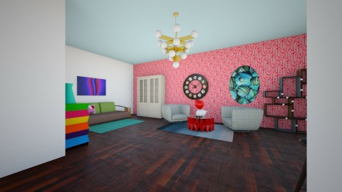 colourful - Living room - by jennellevaughan