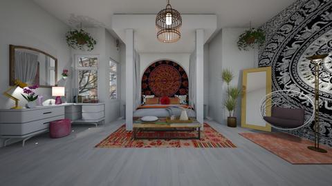 Bohemian bedroom - by Themis Aline Calcavecchia