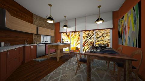my painting kitchen - by kla