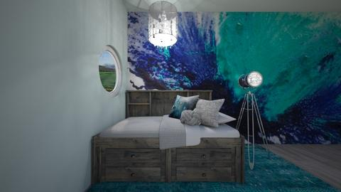 Rustic Teal  - Rustic - Bedroom - by Intricate