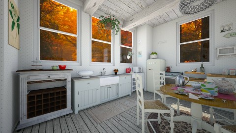 Autumn Cottage Kitchen - Rustic - Kitchen - by PippyLStocking