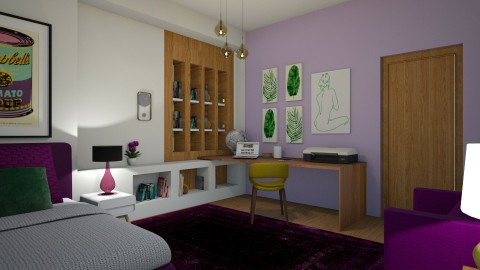 purple  green - Modern - Kids room - by matina1976