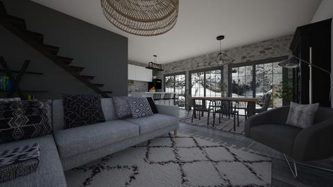 grey living - Living room - by nataliaestevez